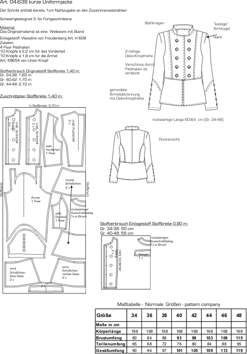 Preview: 04-638 kurze Uniformjacke